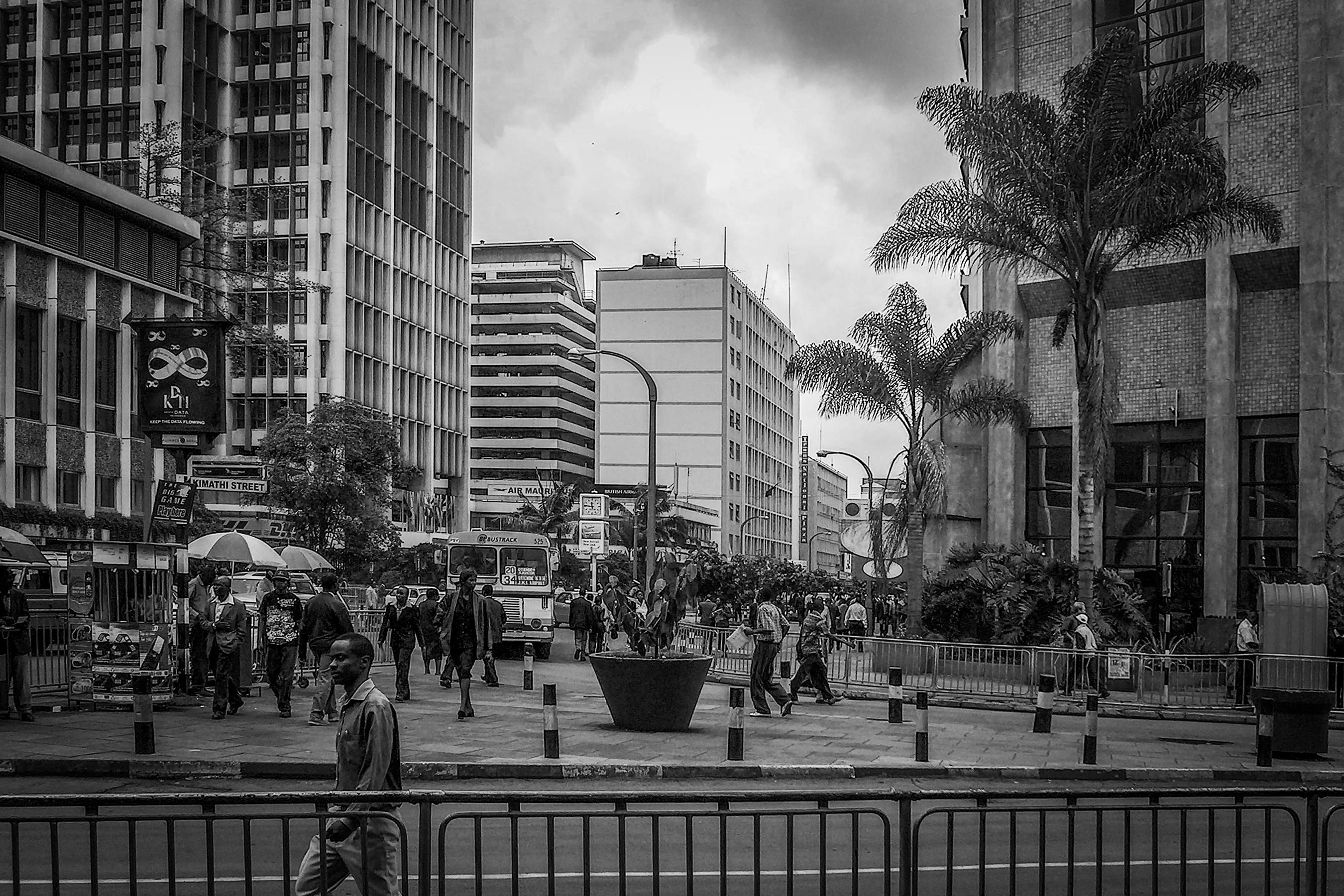 Streets of Downtown Nairobi.